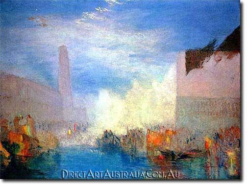 J.W.Turner | Canal Grande - Direct Art Australia,  Price: $199.00,  Availability: Delivery 10 - 14 days,  Shipping: Free Shipping,  Minimum Size: 50 x 60 cm,  Maximum Size : 100 x 150 cm,  100% Hand Painted Oil Paintings on Canvas!  www.directartaustralia.com.au/