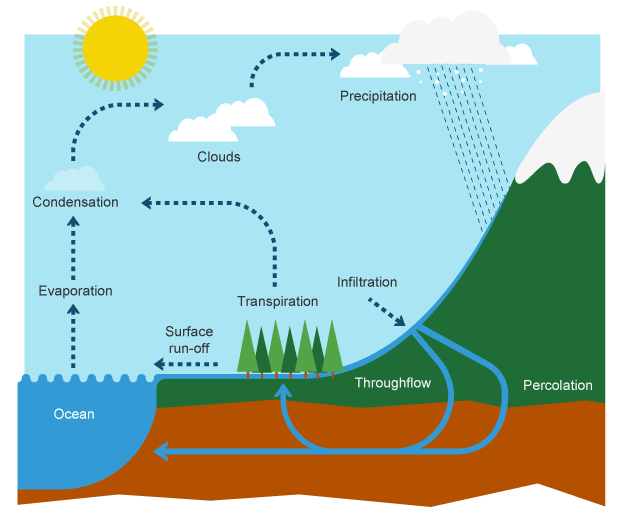 Diagram of the water cycle class 8 meterology pinterest bbc bitesize ks3 geography the water cycle and river terminology revision 1 ccuart Gallery