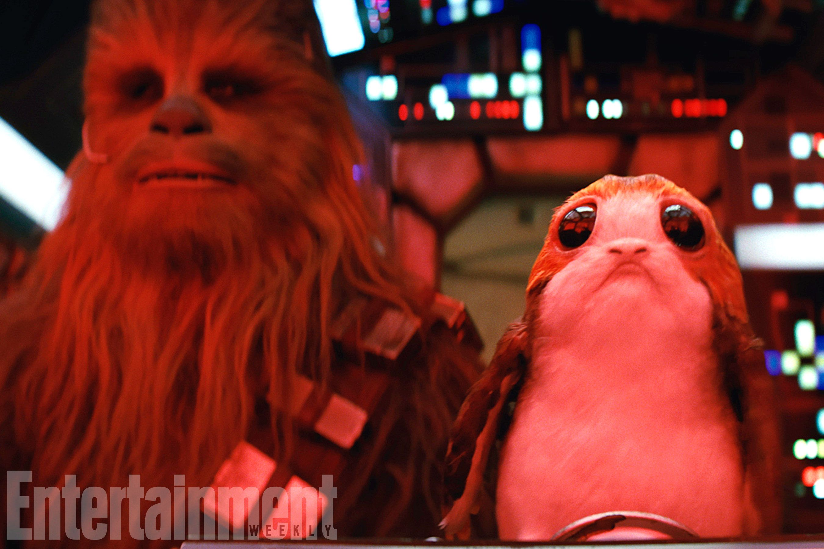 Star Wars The Last Jedi Chewbacca and Porg Water Bottle