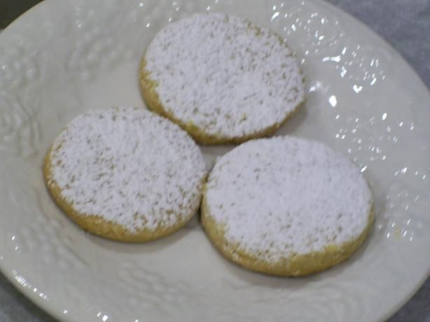 """Pastissets (Powdered Sugar Cookies from Spain) from Food.com:   A delicate cookie from the Catalunya and Baleares Region of Spain.  From Penelope Casa's book """"Delicioso!""""  She recommends using lard for authenticity and best flavor."""