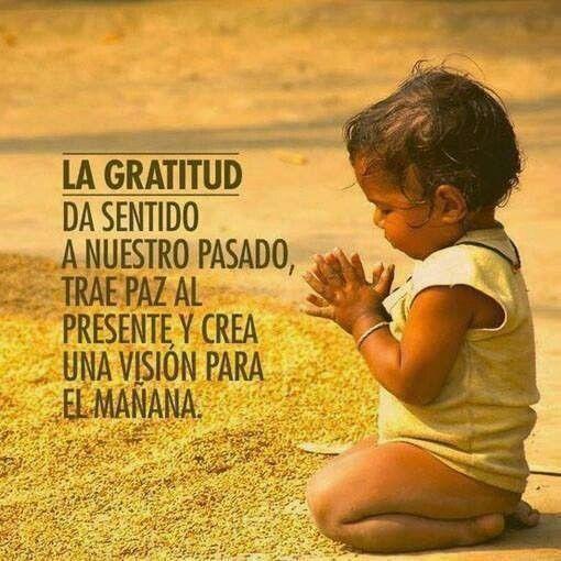Ser agradecido en todo tiempo.