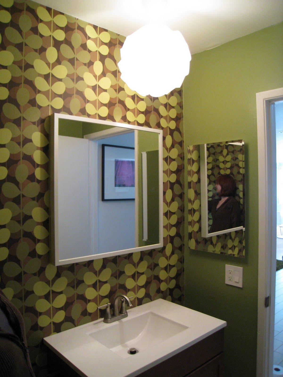 Kleine speisesaalideen modern orla kiely wallpaper  bathroom ideas  pinterest
