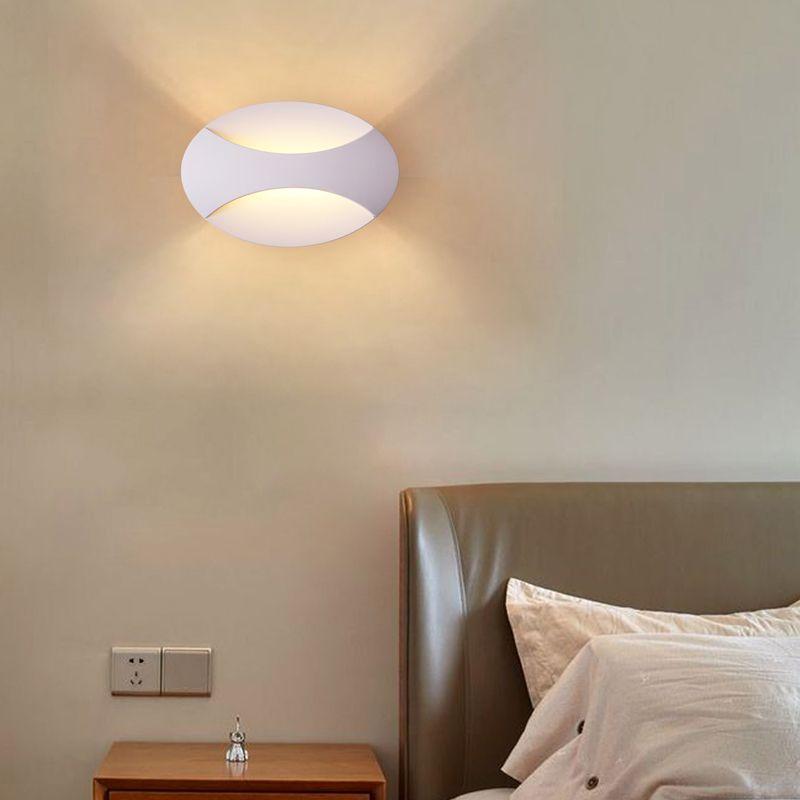 Applique Murale En Aluminium Ovale Simple Pour Chambre A Coucher Couloir Home Decor Wall Lights Decor