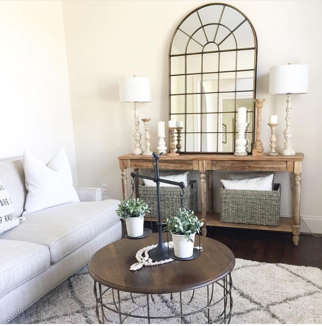 mirror on table and wood top for round table love on small entryway console table decor ideas make a statement with your home s entryway id=32213