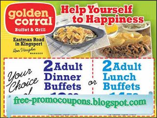 photograph relating to Coupon for Golden Corral Buffet Printable titled Totally free Printable Golden Corral Discount coupons golden corral