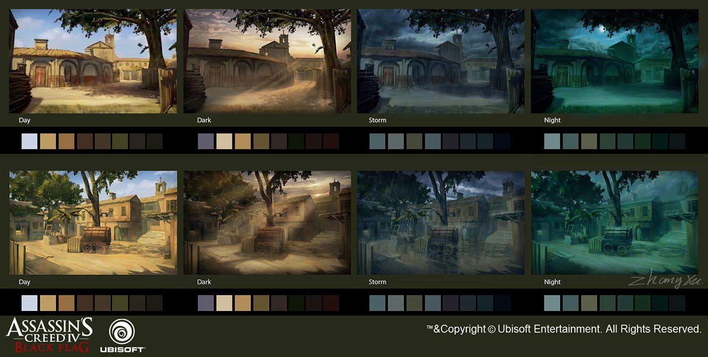 Assassin's Creed - Black Flag concept art color set, Xu  Zhang on ArtStation at https://www.artstation.com/artwork/assassin-s-creed-black-flag-concept-art-color-set-a6aaa7e1-4523-4a8d-b256-3b932d19afad