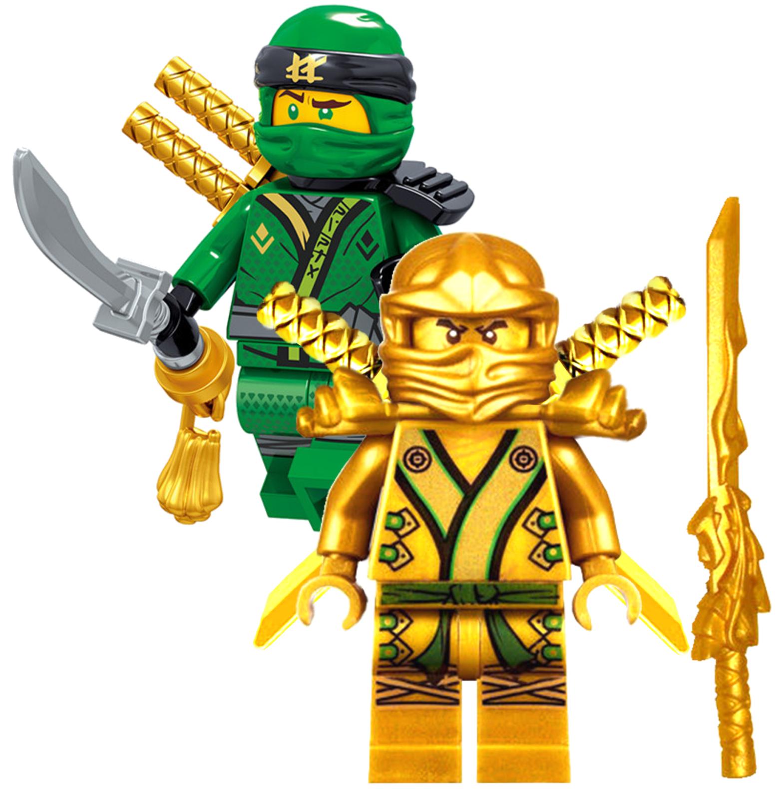 6 LEGO Ninjago Mini Figure Weapon Gold Sword Blade