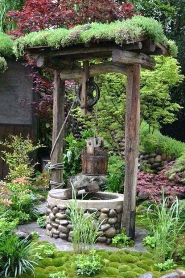 garden accents water wells and pumps pinterest gardens landscaping and garden ideas - Garden Accents