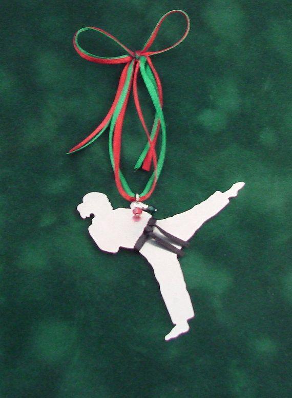 Karate Tae Kwon Do Metal Christmas Tree Ornament by ...