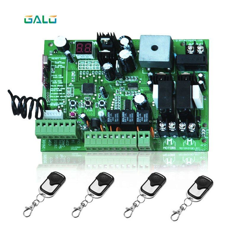 Universal Use 24v Dc Pcb Board Of Automatic Double Arms Swing Gate Opener Control Board Panel Motor Remote Option Pcb Board Access Control Swing Gate Opener