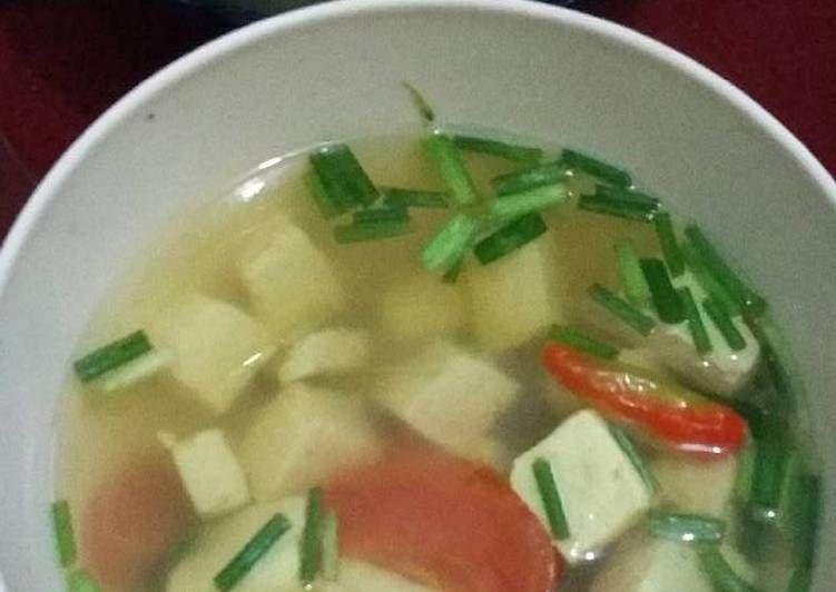 Resep Cara Membuat Sop Tahu Putih Asam Pedas Masakanmu Com Resep Resep Tahu Resep Masakan