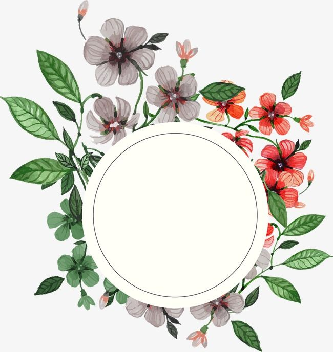 Flowers And Wreaths Wreath Flowers Frame Png Transparent Clipart Image And Psd File For Free Download Flower Frame Flower Art Flower Backgrounds