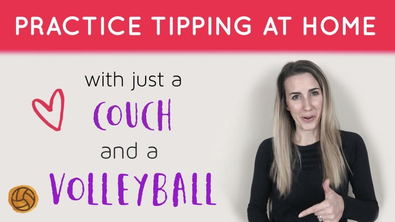 Volleyball Drills At Home How To Tip A Volleyball Volleyball Drills Volleyball Training Coaching Volleyball