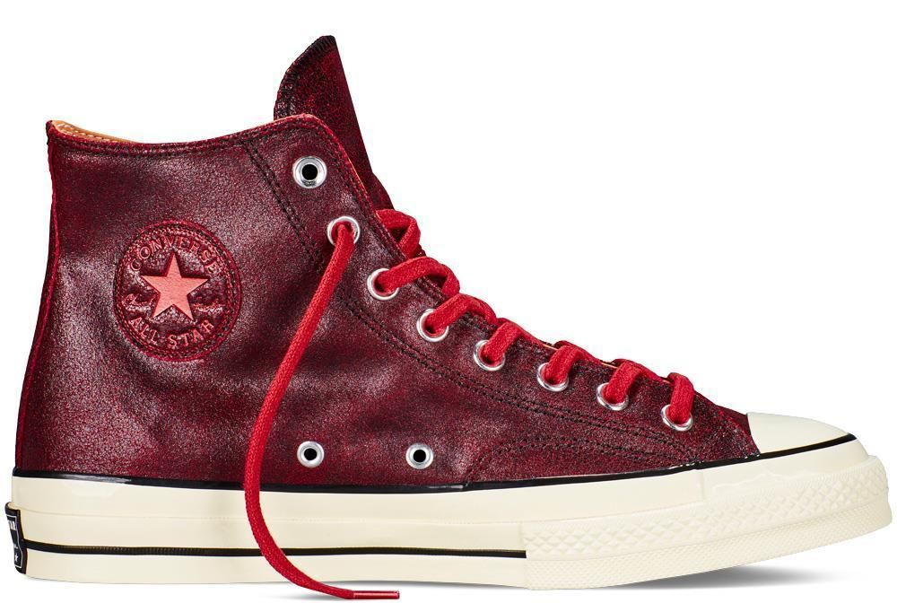 7cf276e69f26 NEW CONVERSE ALL STAR CT CHUCK TAYLOR CTAS 70s HI MENS 151153C Cracked  Leather  Converse  AthleticSneakers