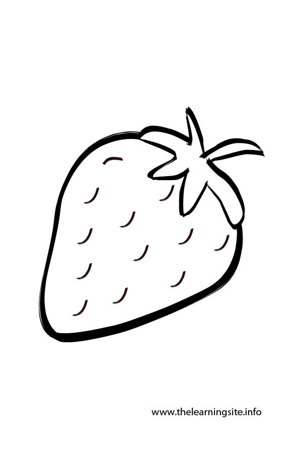 Free Strawberry Healthy Fruit Coloring Pages For Kids School