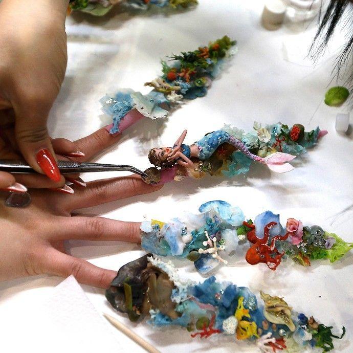 Competition nail art | Fake Nail Arts | Pinterest | Dream nails ...
