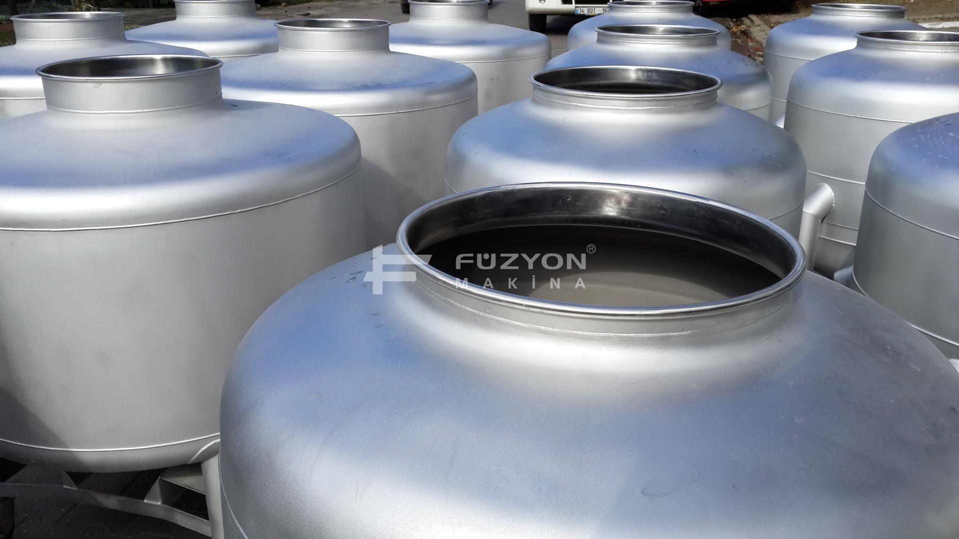 350-600 litre Kapasiteli Mobil Pot Tankları   Füzyon Makina