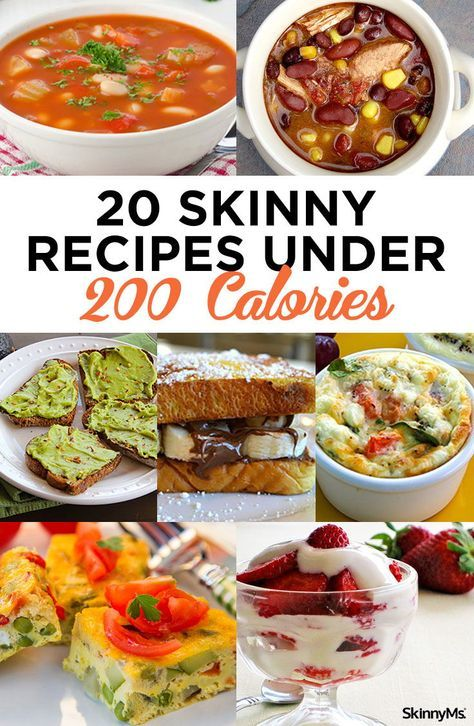20 Skinny Recipes Under 200 Calories #300caloriemeals