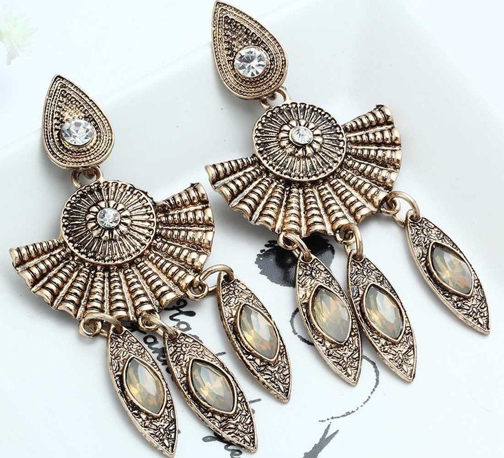 1 Pair Elegant Multi Crystal Rhinestone Ear Drop Dangle Stud Long Earrings  240