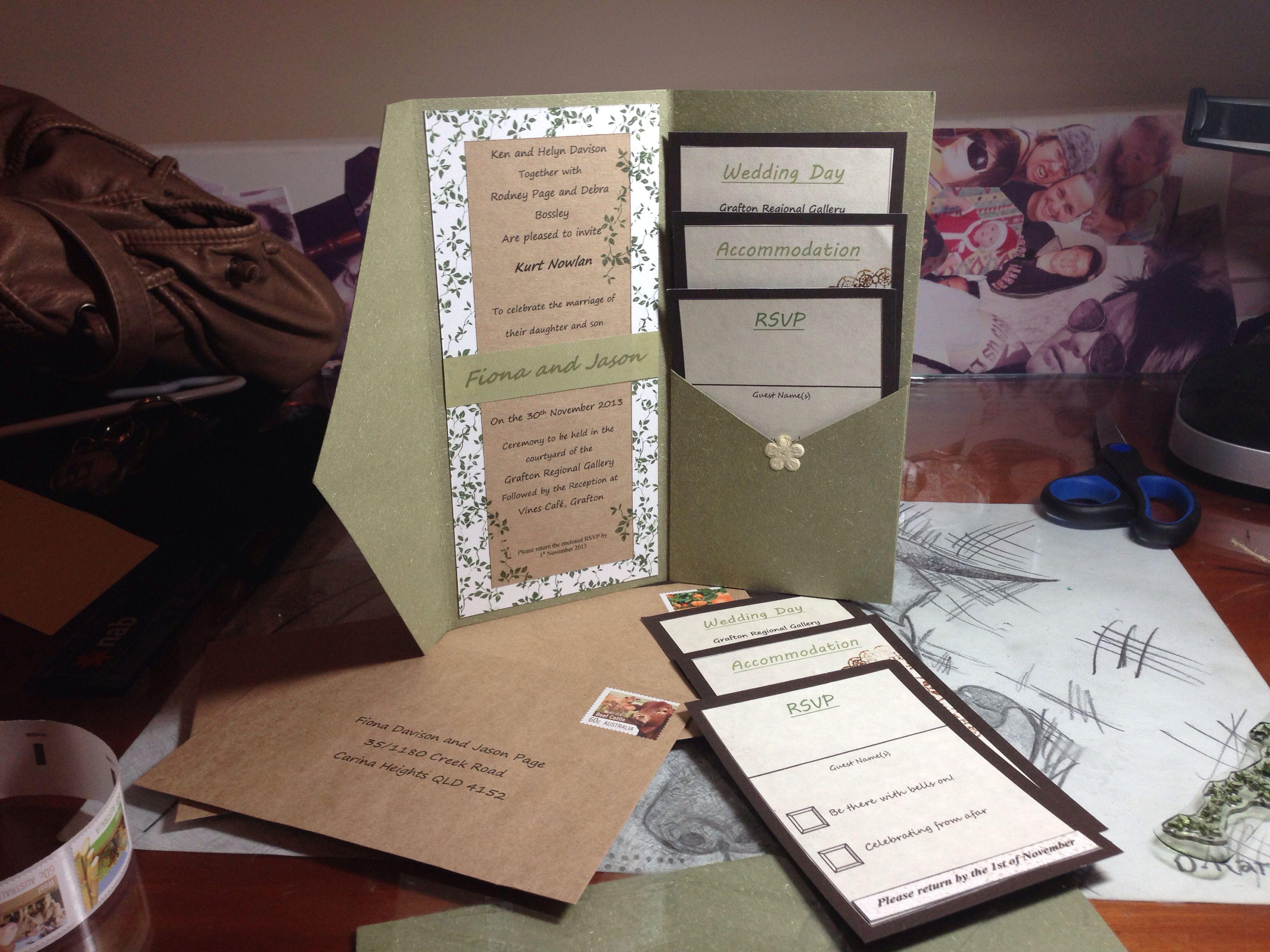 Garden theme wedding invitations diy recycled paper home made garden theme wedding invitations diy recycled paper home made created from scratch myself for my solutioingenieria Gallery