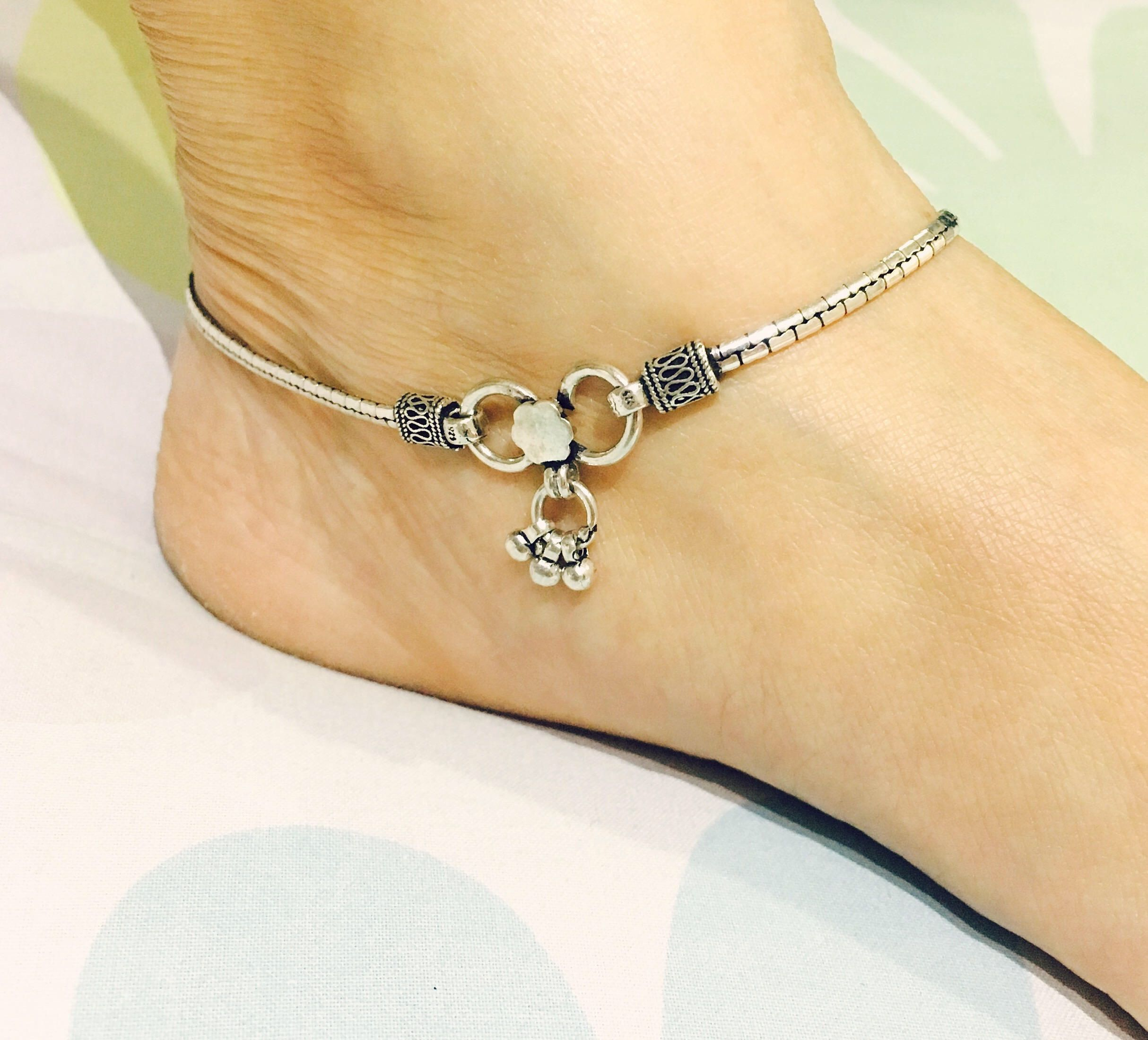 dfoo sterling il silver jewellery anklet india fullxfull heart c tribal anklets
