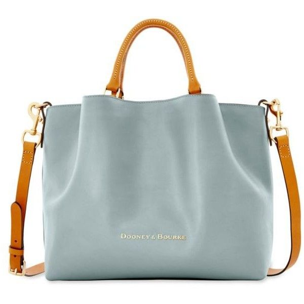 95790a88a0 Dooney Bourke Ice Blue City Leather Large Barlow Satchel ( 368) ❤ liked on  Polyvore