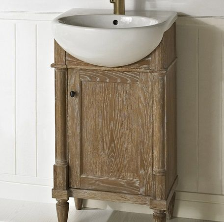 V20 Fairmont Rustic Chic 20 Vanity And Sink Set Weathered Oak