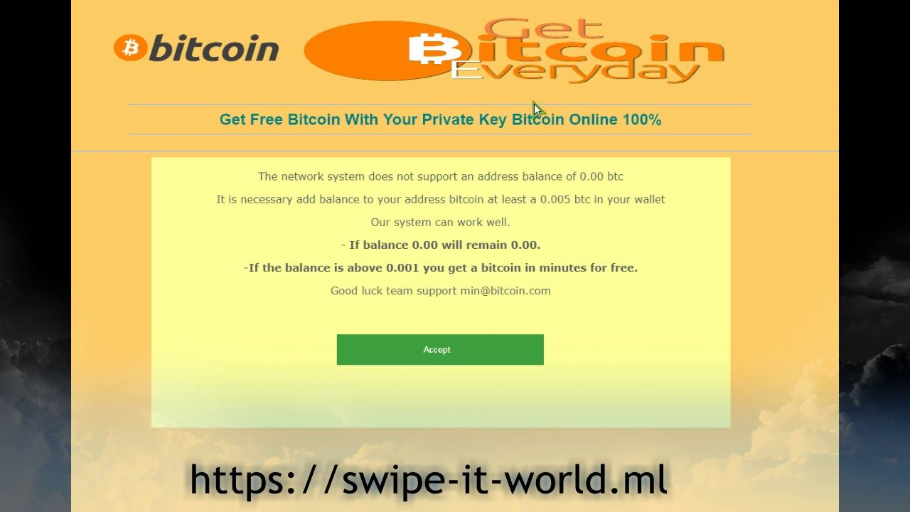Get Free Bitcoin With Your Private Key Bitcoin Online | Bitcoin