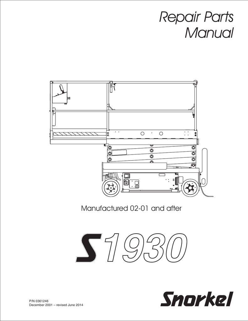 Snorkel Lift Wiring Guide Inspirational In 2020 Electrical Wiring Diagram Repair Manual
