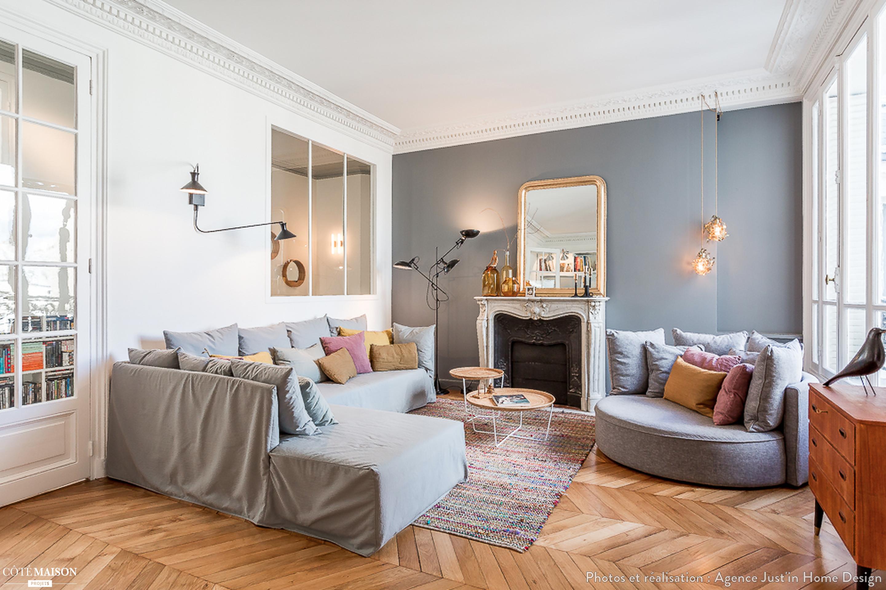 Renovation Complete Et Decoration D Un Appartement De 200m2 A Paris 17eme Appartement Parisien Meuble Appartement