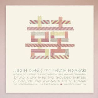 Top 8 Double Happiness Wedding Invitations for a Lucky Wedding