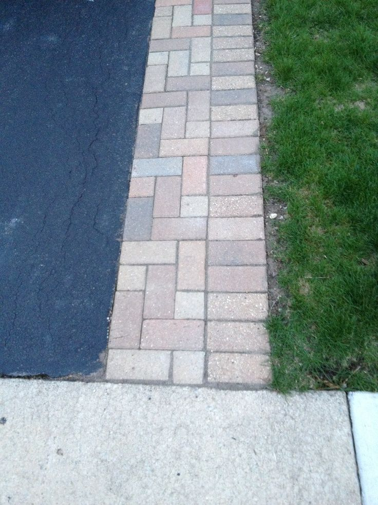 Brick lined driveway google search landscaping pinterest brick along side of asphalt driveway solutioingenieria Images