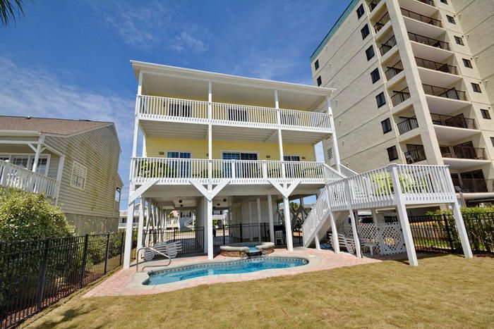 Phenomenal Casablanca Is A Beach House Rental In The Cherry Grove Home Interior And Landscaping Oversignezvosmurscom