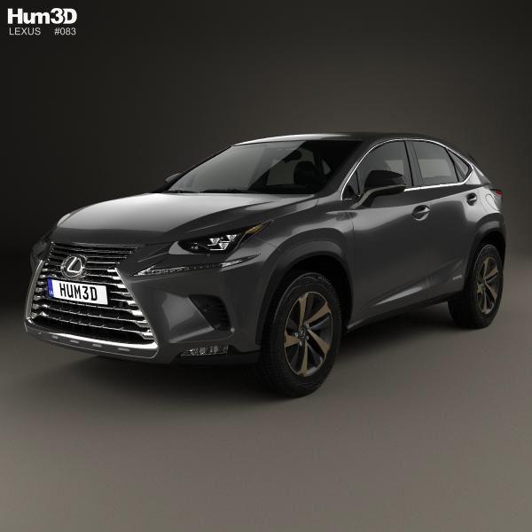 3d Model Of Lexus Nx Hybrid 2017 In 2020 Lexus 3d Model Car 3d Model