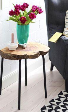 beistelltisch aus baumscheibe baumscheiben tisch und beistelltische. Black Bedroom Furniture Sets. Home Design Ideas
