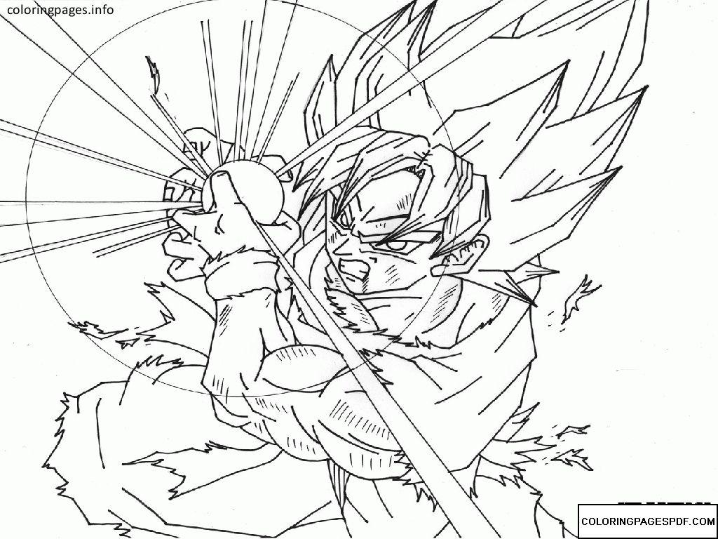 Goku Coloring Pages Pdf Free Coloring Pages At Coloringpagespdf Com Dibujo De Goku Dibujos Goku