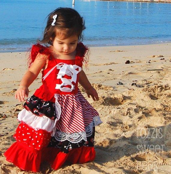 Pirate Princess Dress-- Jolly RogHER-- --girls size 6m-6yrs $59.99
