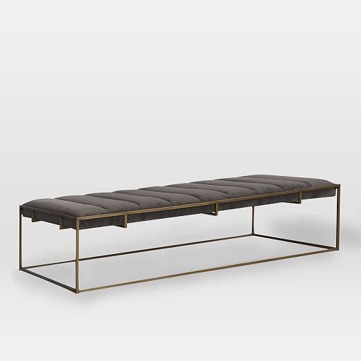 metal base bench,upholstery bench,dining bench,real leather bench ...