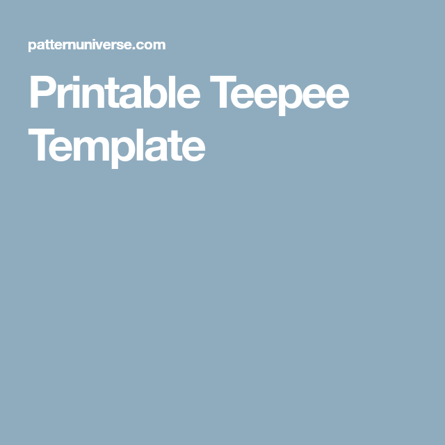 Printable teepee template crafty pinterest templates teepee printable teepee template maxwellsz