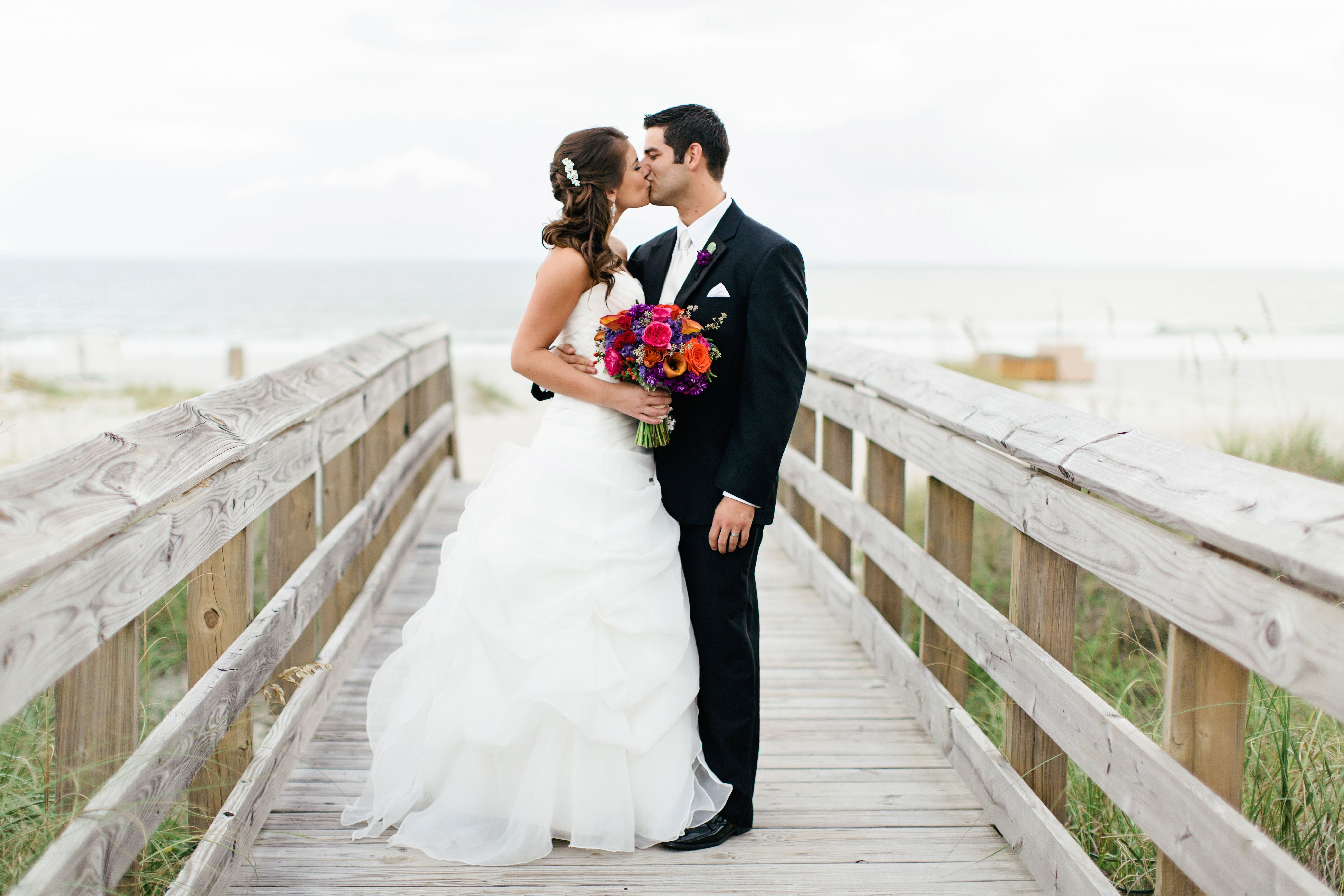 boardwalk wedding photo