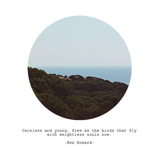 [Ben Howard Lyrics] Print by Julia Sloboda