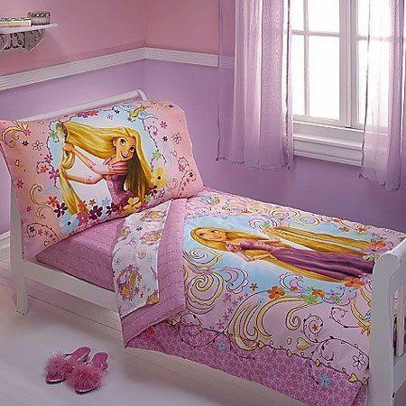 Disney Tangled Rapunzel Bedroom Decor Toddler Bed Set Toddler Bed