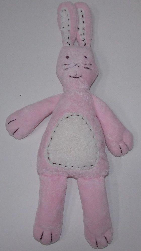 Pbk Pottery Barn Kids Pink Bunny Rabbit Critter Sched Chamois Plush Toy 16 Potterybarnkids