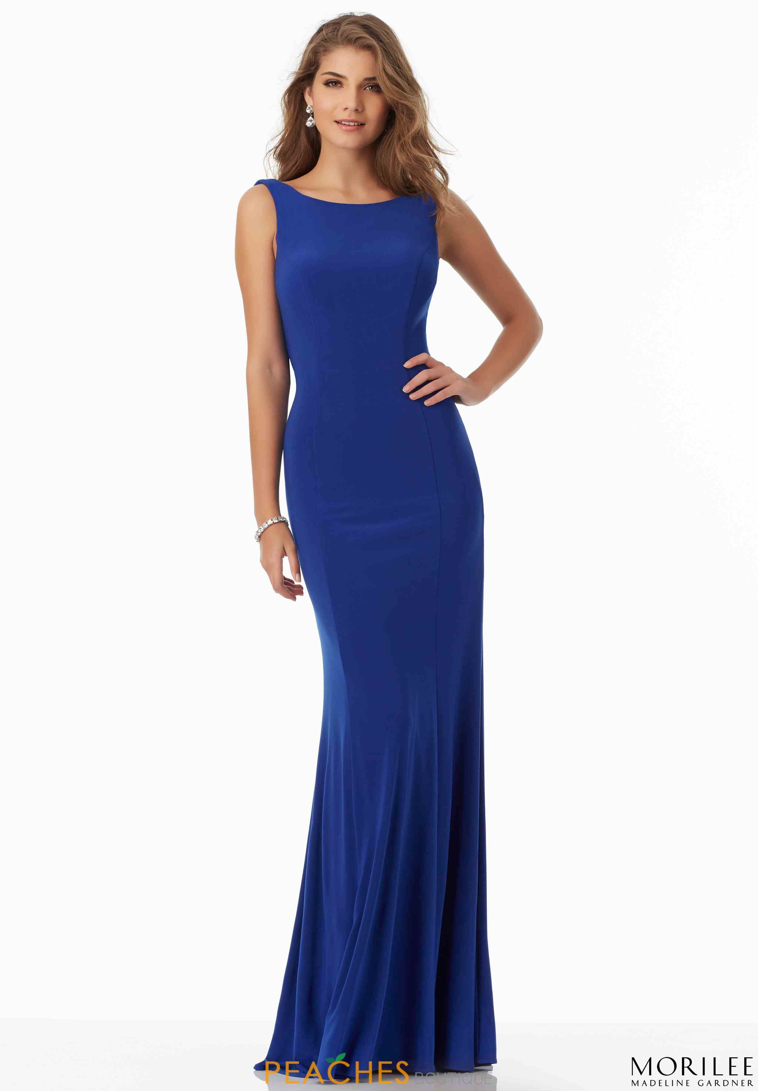 Mori lee high neckline fitted dress mori lee