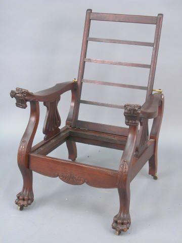 American Morris Chair Griffon Head Arm