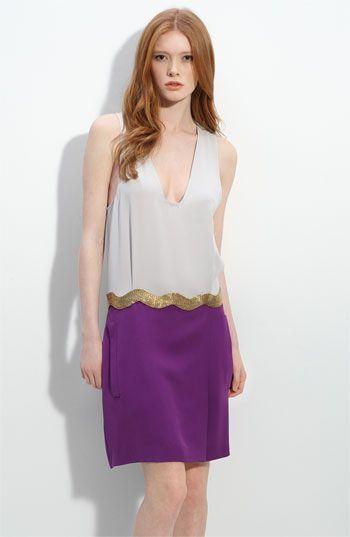 9092396507f50 Diane von Furstenberg Colorblock Silk Dress | Cool Threads | Dresses ...