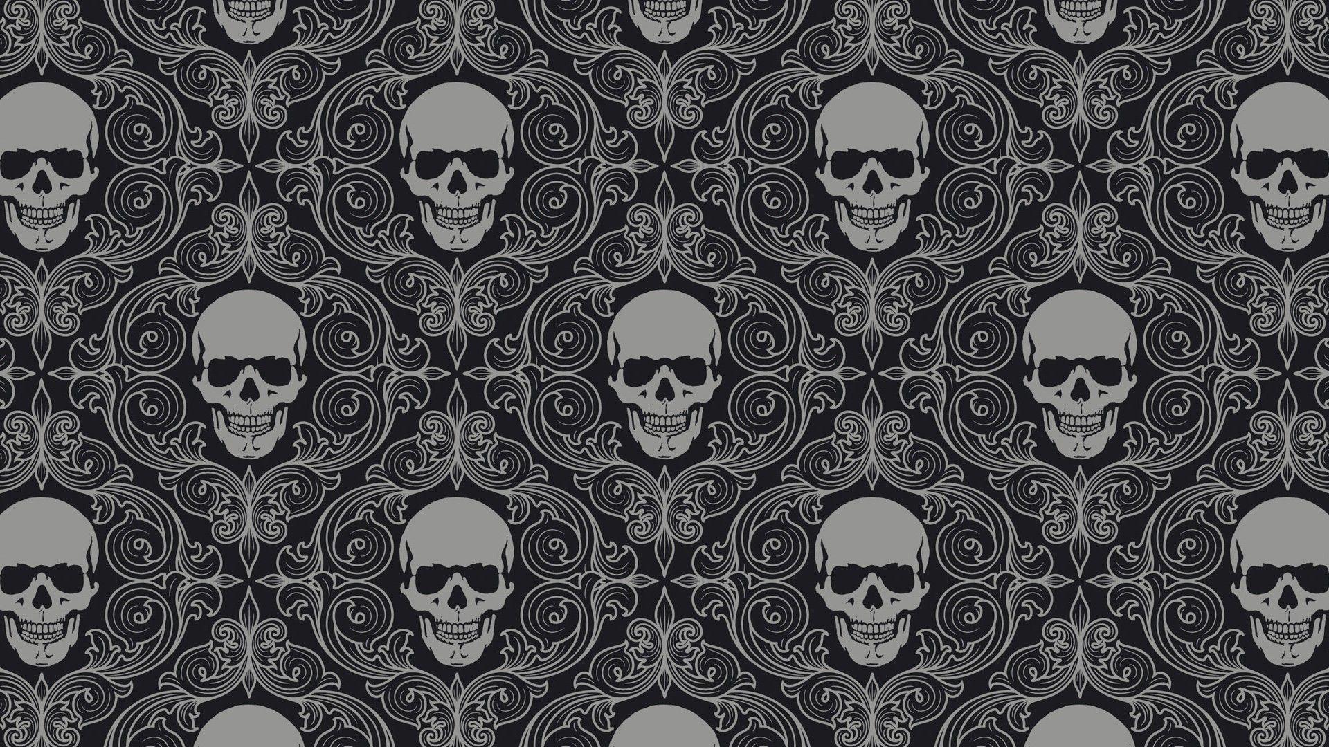 Skull Pattern Wallpaper 15489 Skull Wallpaper Pattern Wallpaper