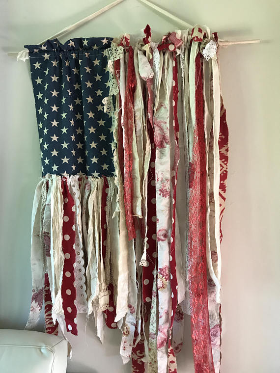 5773cf31fc5 Flag size is approximately wide by long. each Flag is handmade with hand  torn fabrics