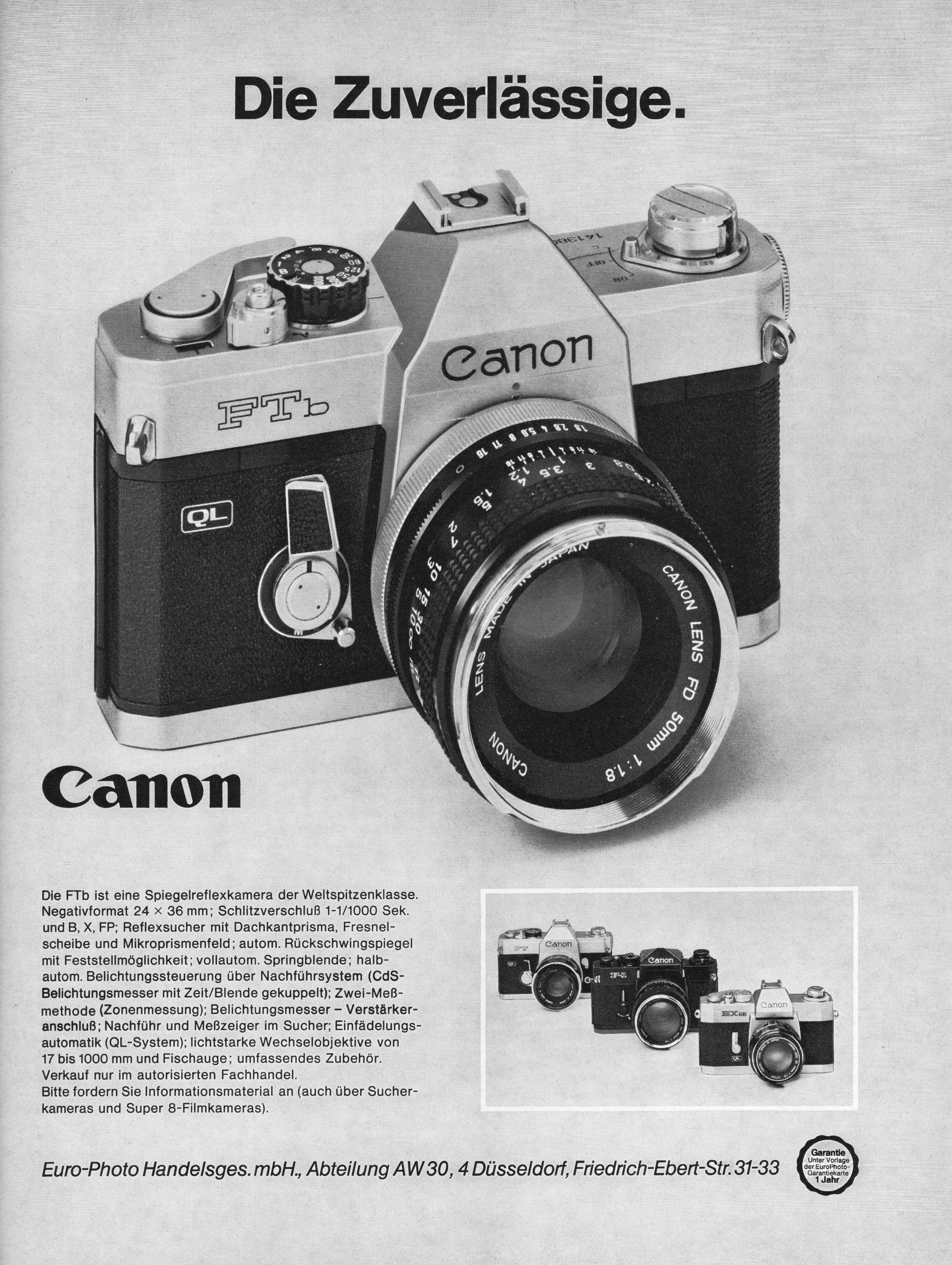 Canon 1973 Retro Camera Vintage Cameras Old Cameras