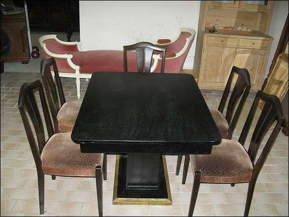Jugendstil Tisch mit 6 Sessel 1A Zustand